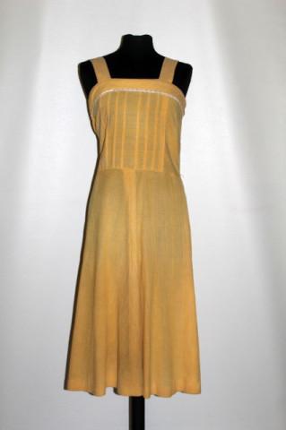 Rochie vintage galben vanilie anii 70