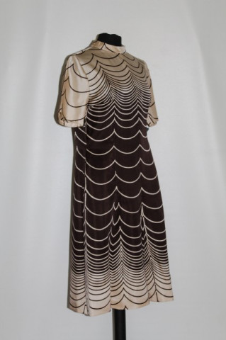 Rochie vintage mod bej si maro anii '60