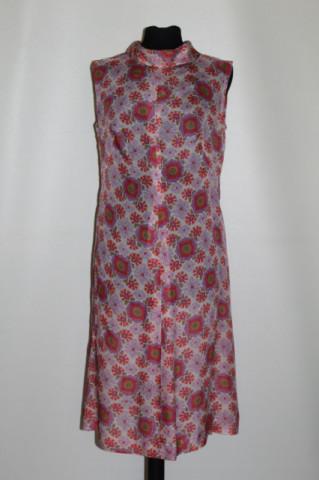 Rochie vintage print garoafe anii 50 - 60
