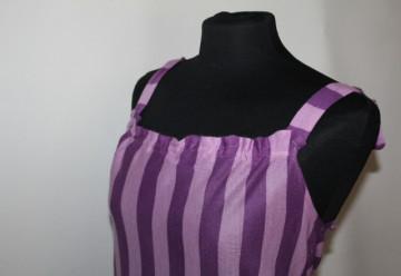 Rochie vintage violet cu dungi anii '70