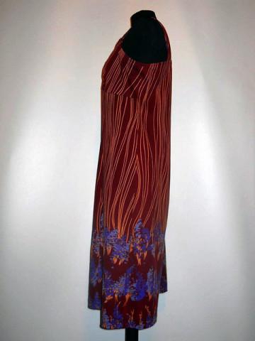 Rochie visinie dungi si flori anii '70