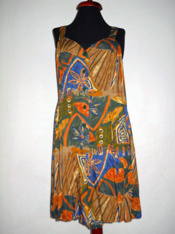 Salopeta jungle print anii '90