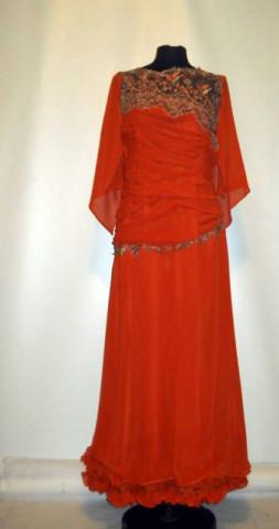 Rochie de seara din chiffon portocaliu anii '90