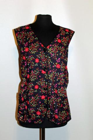 Bluza vintage floricele rosii anii '70
