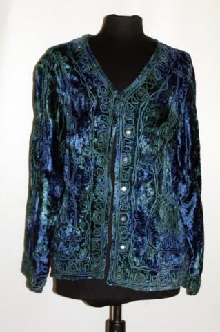Jacheta din catifea in degrade anii '80