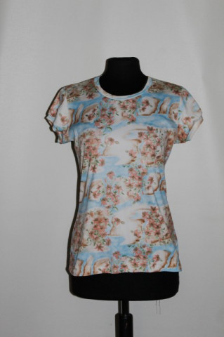 Bluza print floral hawaian anii '70