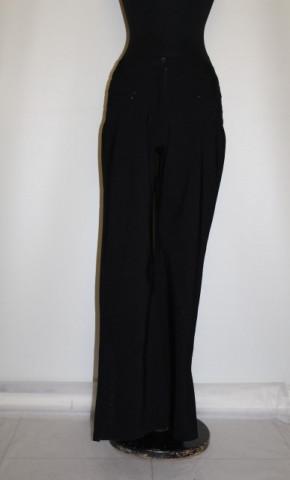 Pantaloni negri evazati repro anii '70
