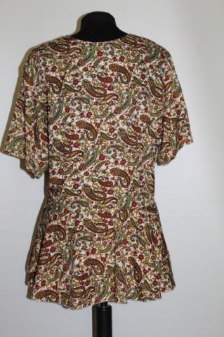 Bluză paisley model peplum repro anii 70