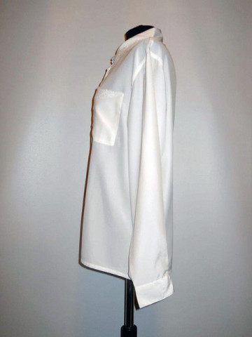 Camasa ivoire broderie anii '80
