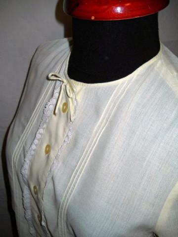 Camasa vintage galben deschis anii '40