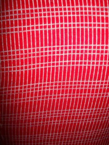 Camasa vintage patratele rosu cu alb anii '70