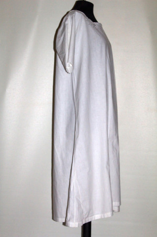Chemise antique broderie spartă și mânecă scurtă perioada edwardiană cca. 1900