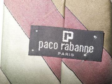"Cravata  retro dungi pastel ""Paco Rabanne"" anii '80"