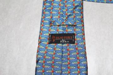 Cravata vintage print ratuste anii '70