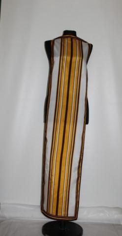 Esarfa - fular dingi galbene si maro anii '70
