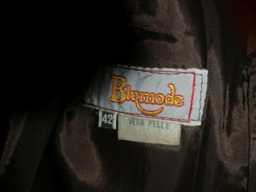 Fustă din piele naturală Blumode anii 80