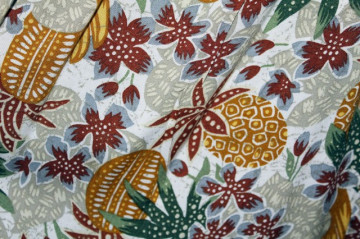 Fusta retro print ananas anii '80