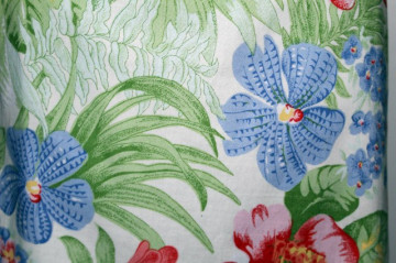 Fusta retro print orhidee anii '80