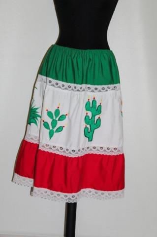 Fusta vintage stil mexican anii '70