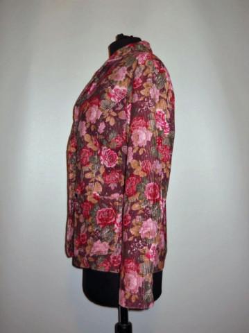 Jacheta retro print floral roz anii '90