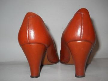 Pantofi maro cu verde anii '60
