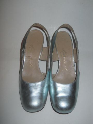 """Pantofi vintage argintii """"Mondial"""" anii '60"""