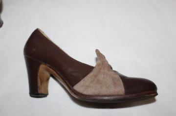 Pantofi vintage bicolori anii '20