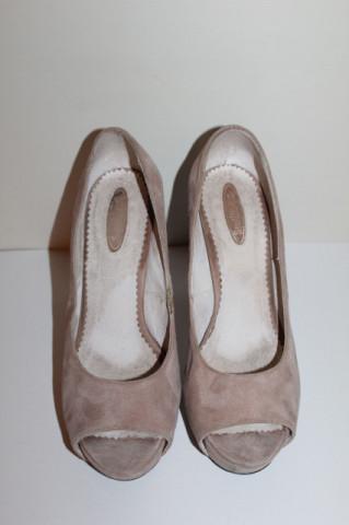 Peep Toe crem Smiling Shoes