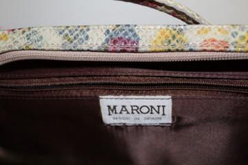 Poșetă stamp șarpe multicolor Maroni repro anii 60
