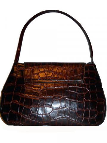 Poseta vintage din piele de crocodil anii '70