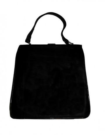 Poseta vintage neagra model impletit anii '40 - '50