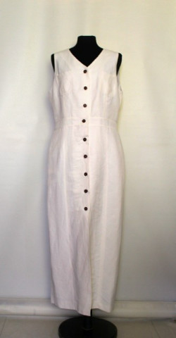 Rochie albă nasturi stamp șopârlă anii 80
