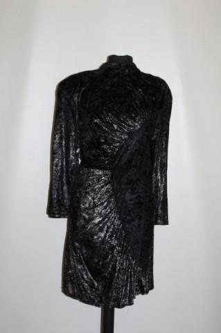 Rochie de ocazie din catifea glitter argintiu anii '80