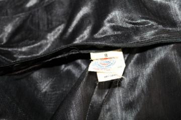 Rochie de seara neagra vintage din organza anii '60