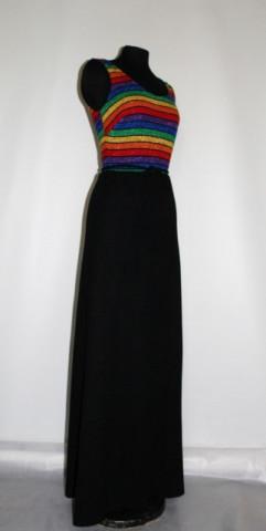 Rochie de seara vintage dungi anii '70