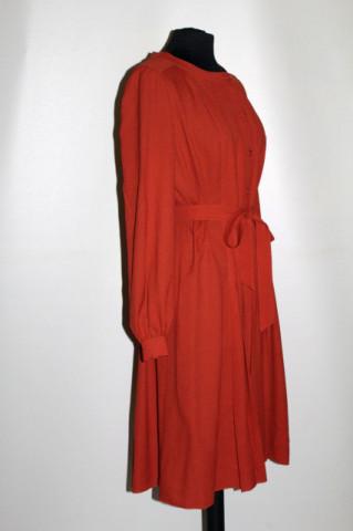 Rochie din crepe cărămiziu anii 70