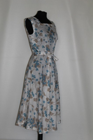 Rochie flori albastre si maro anii '70
