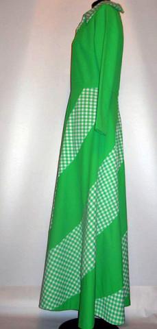 Rochie maxi verde anii '60 - '70