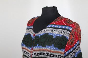 Rochie print geometric stil etnic anii 80- 90