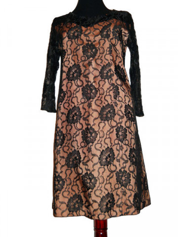 Rochie vintage de seara din dantela anii '60