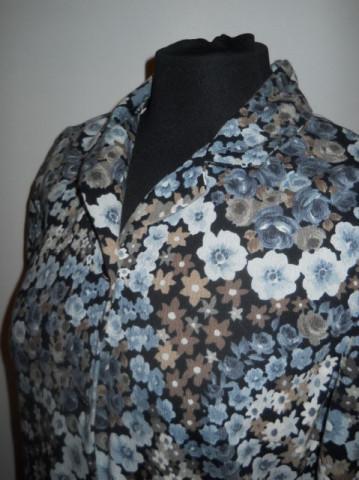 Rochie vintage flori albastre anii '60