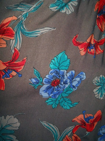 Rochie vintage print floral exotic anii '70