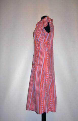 Rochie vintage violet si portocaliu anii '70
