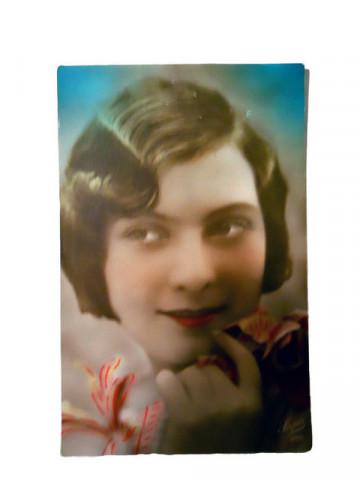 Carte postala vintage portret de femeie anii '20