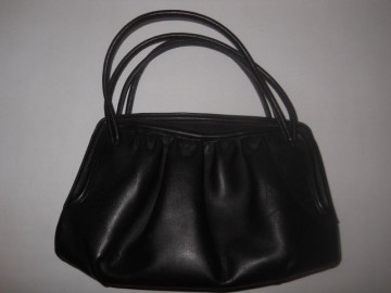 Poseta vintage piele neagra anii '40