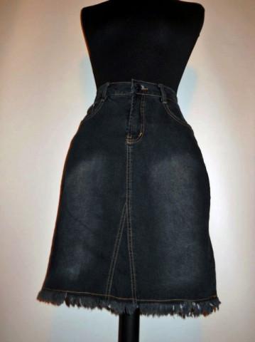 Fusta neagra jeans anii '90