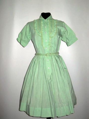 Rochie vintage verde fistic anii '50