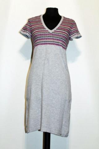 Rochie din tricot gri repro anii '70