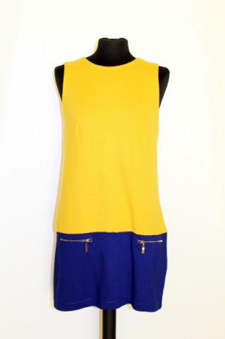 Rochie mini bicolora repro anii '60