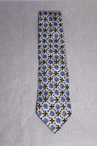 Cravata flori albastre Yves Saint Laurent